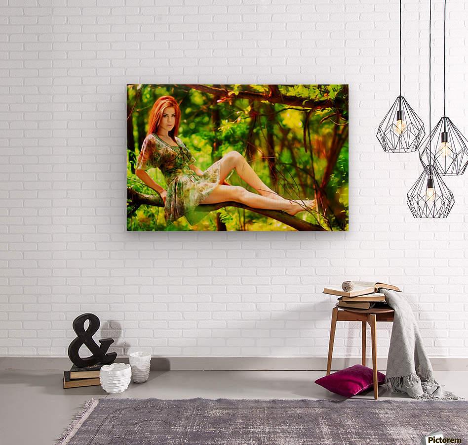TREEgirl2  Wood print