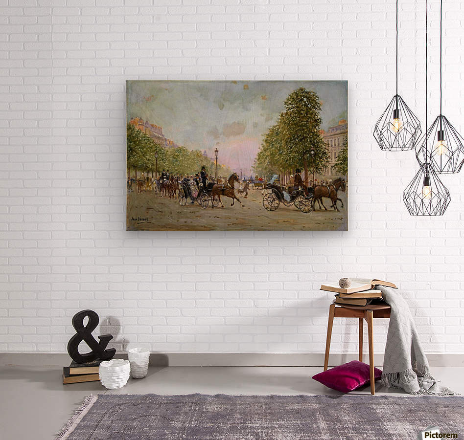 The Promenade on the Champs-Elysees  Wood print