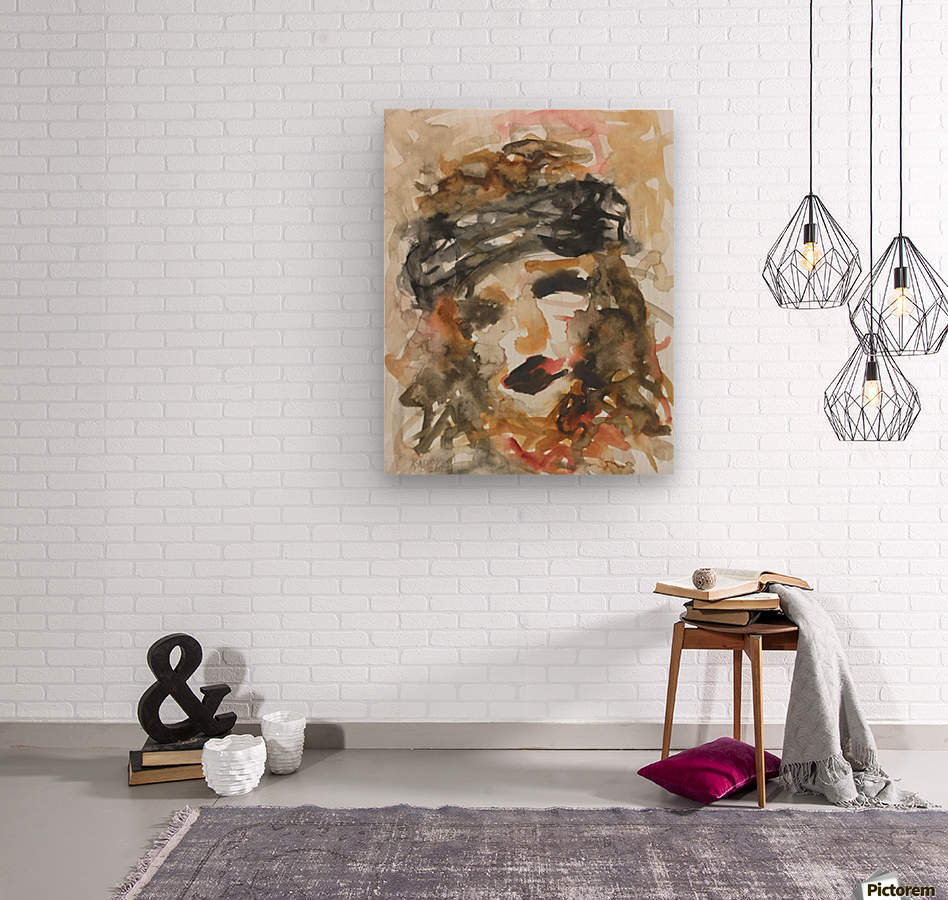 Portrait_30x42cm  Wood print