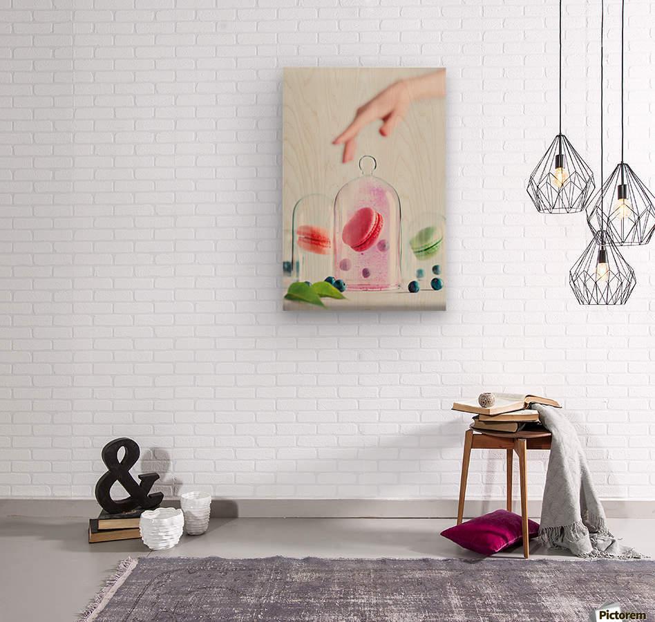 Precious macarons  Wood print
