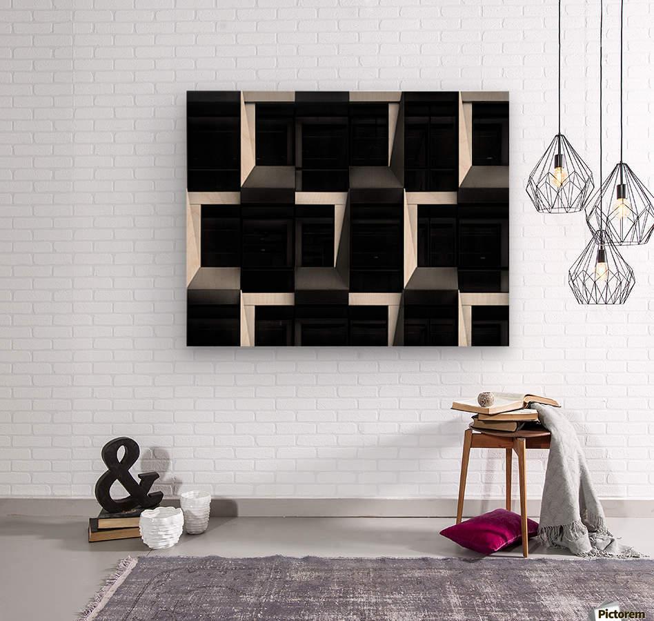 B&W  Wood print