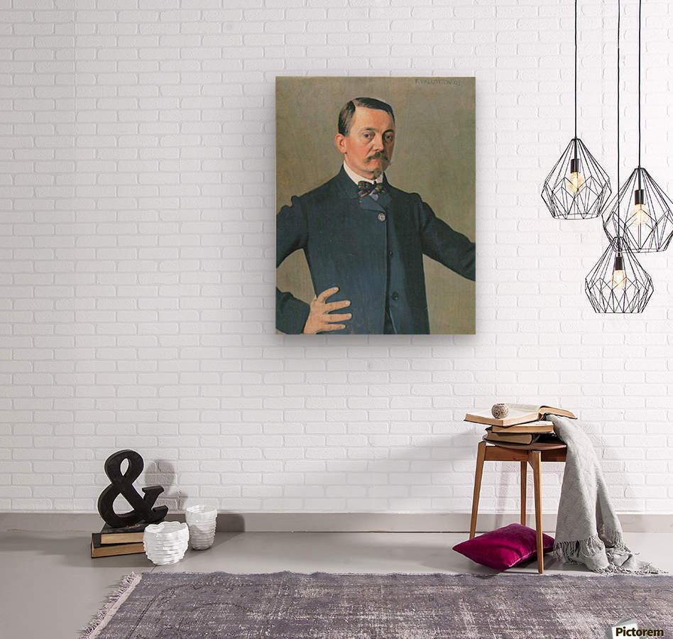 Self-Portrait by Felix Vallotton  Wood print