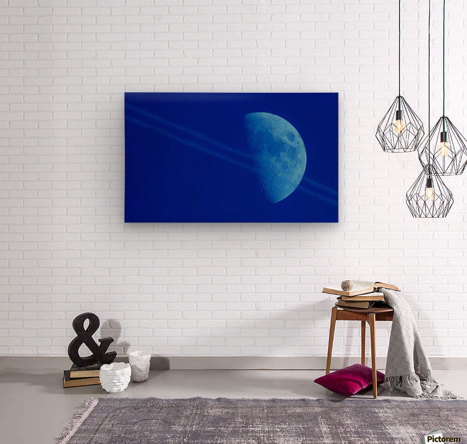 Moon lines  Wood print
