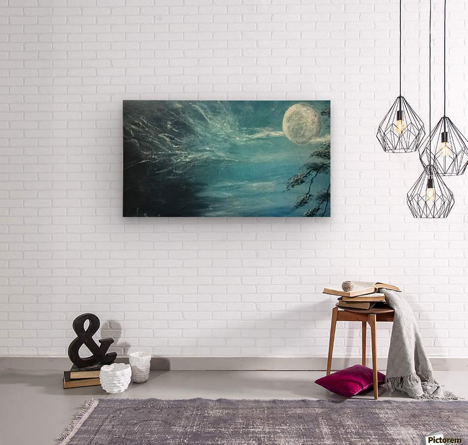 moon aura  Wood print
