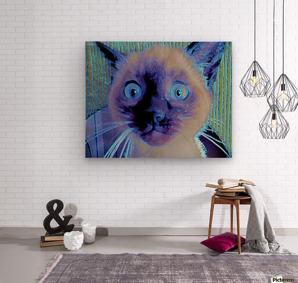 electric kitty  Wood print