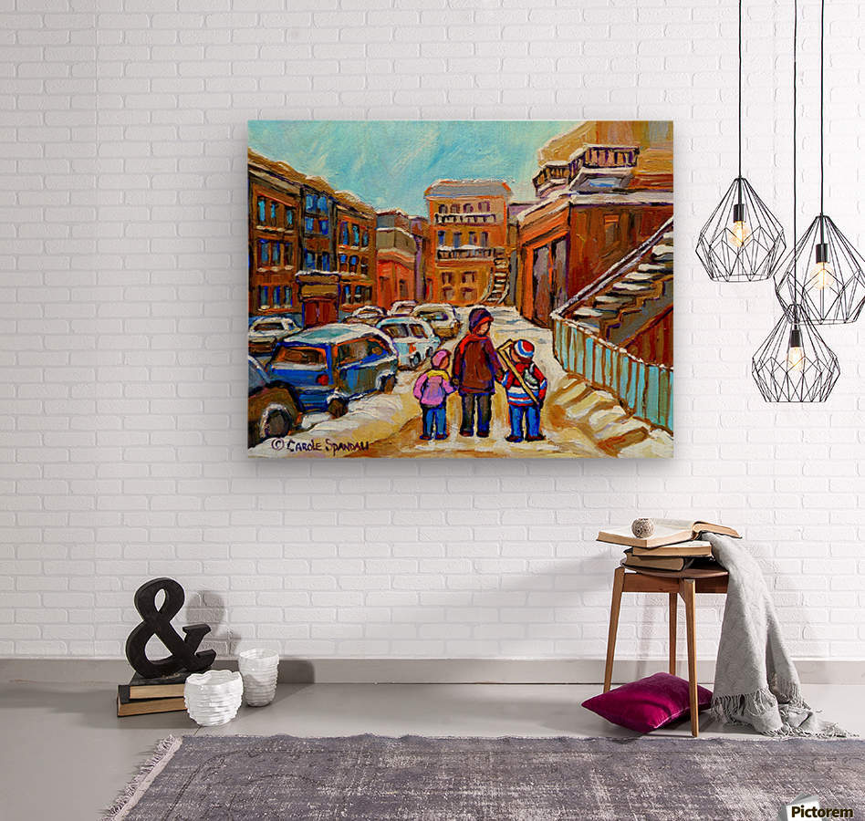 BEAUTIFUL DAY FOR A WALK IN MONTREAL  Wood print