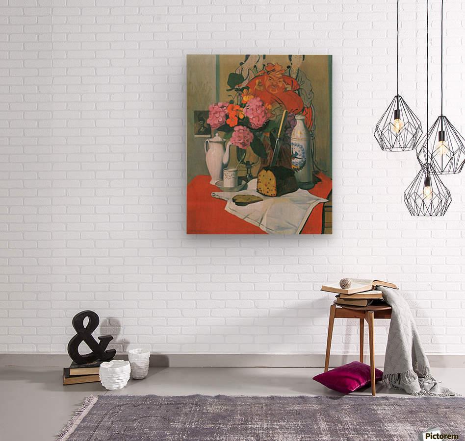 Still life by Felix Vallotton  Wood print