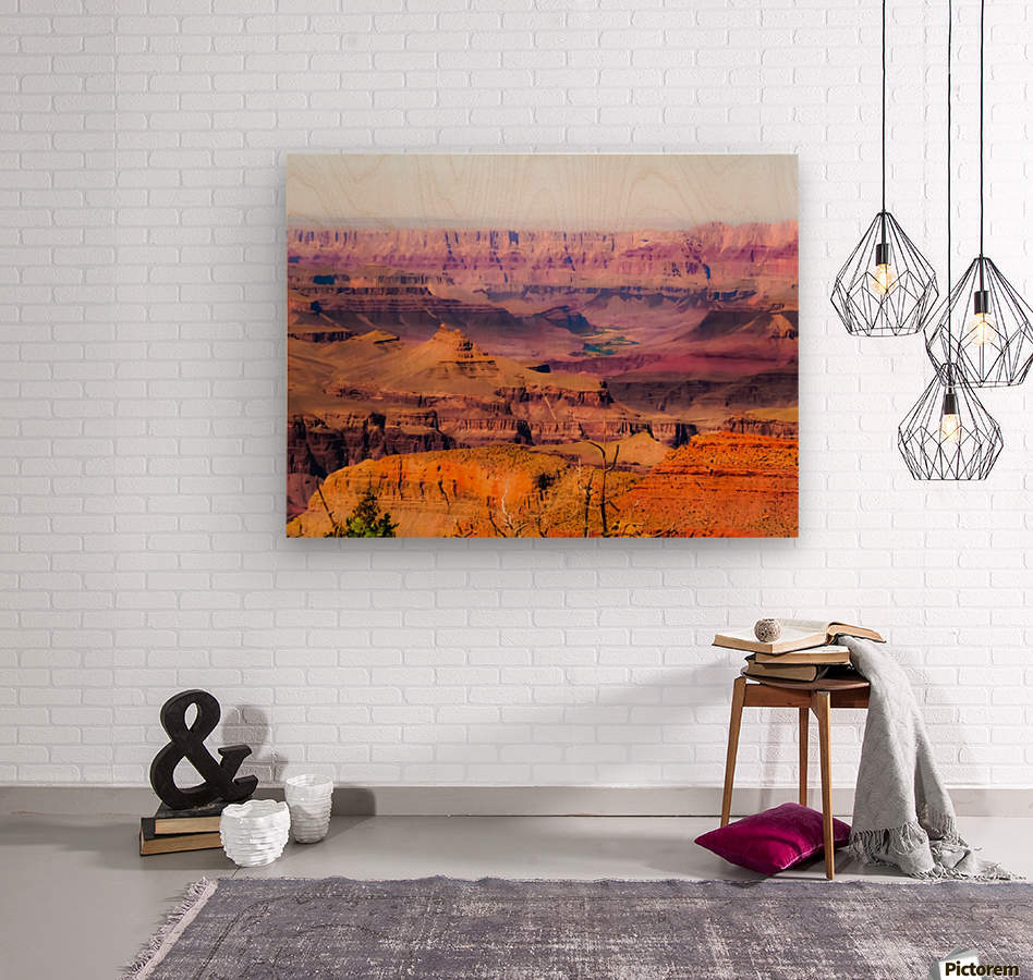 desert view at Grand Canyon national park, USA  Wood print