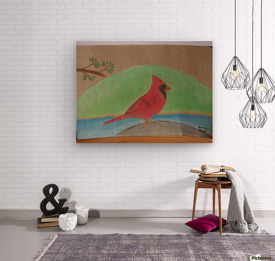 Red Cardinal   Wood print