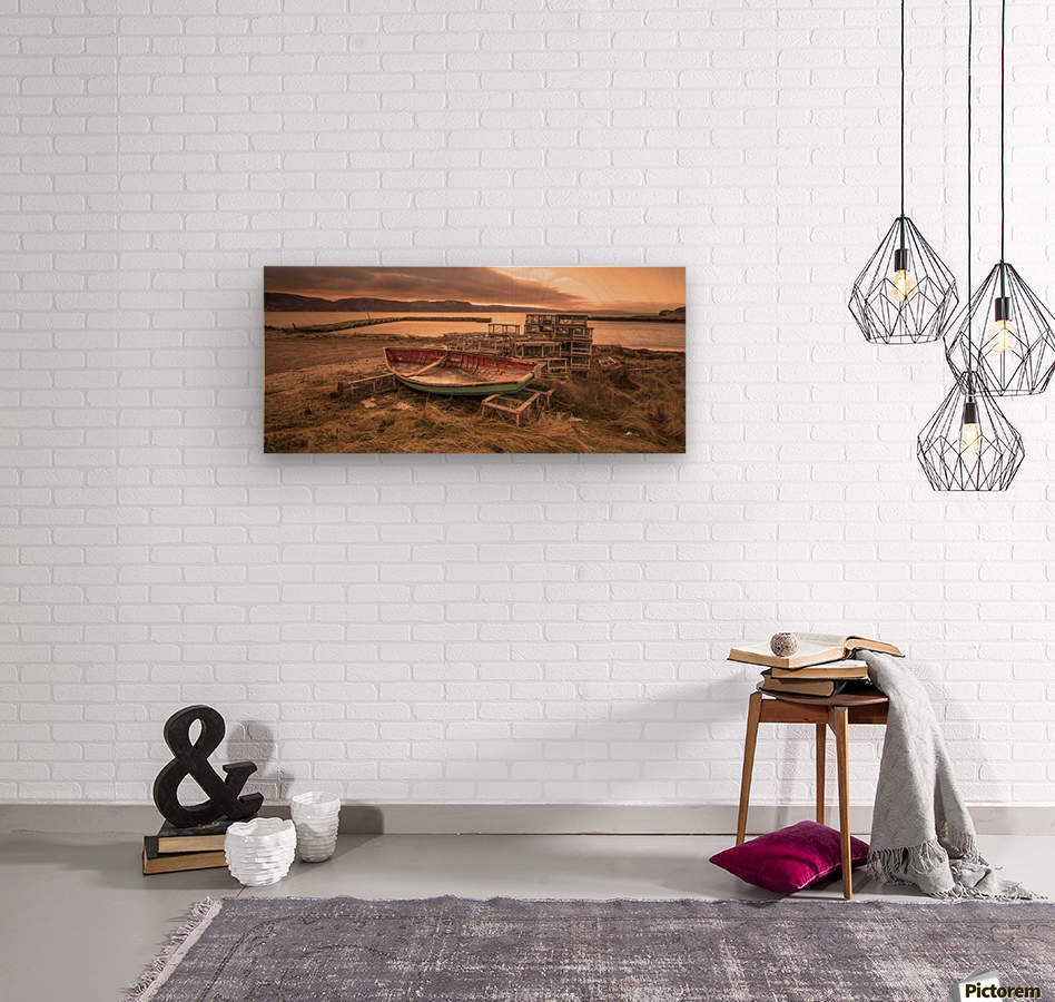 La Pointe- warm  Wood print