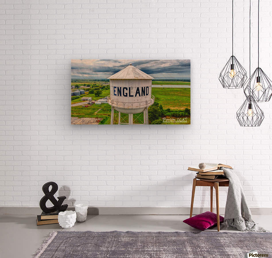 England, AR | Water tower  Wood print