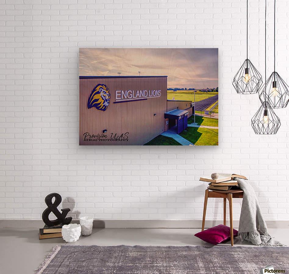 England, AR   Lions Field House & Stadium  Wood print