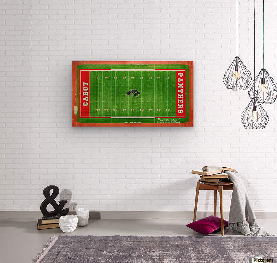 Cabot, AR | Panther Football Field  Wood print
