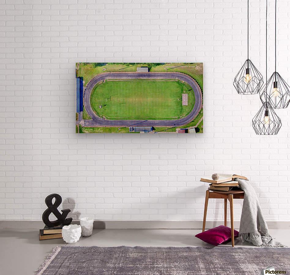 Hazen, AR | Hornets Football Arena  Wood print
