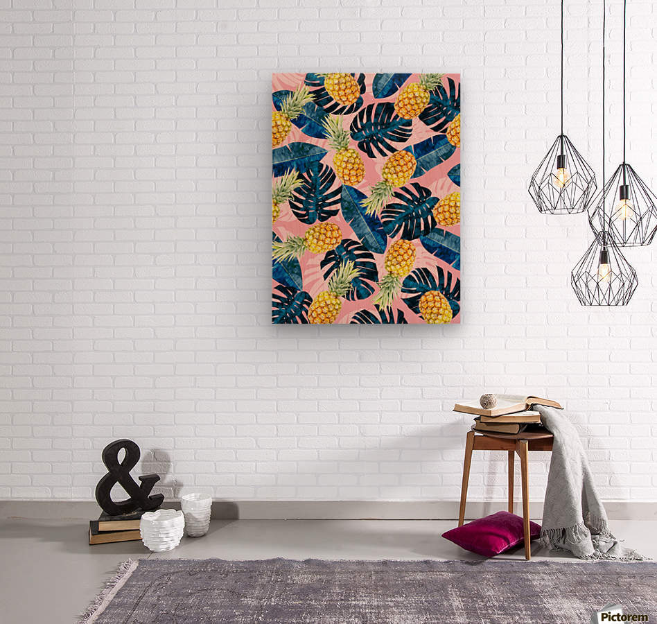 Tropical and exotic pattern  Wood print
