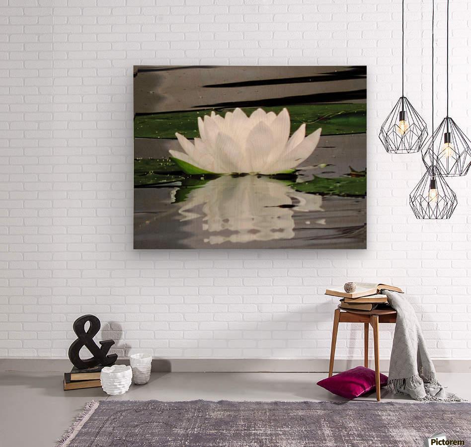 FloweringLilyPad  Wood print