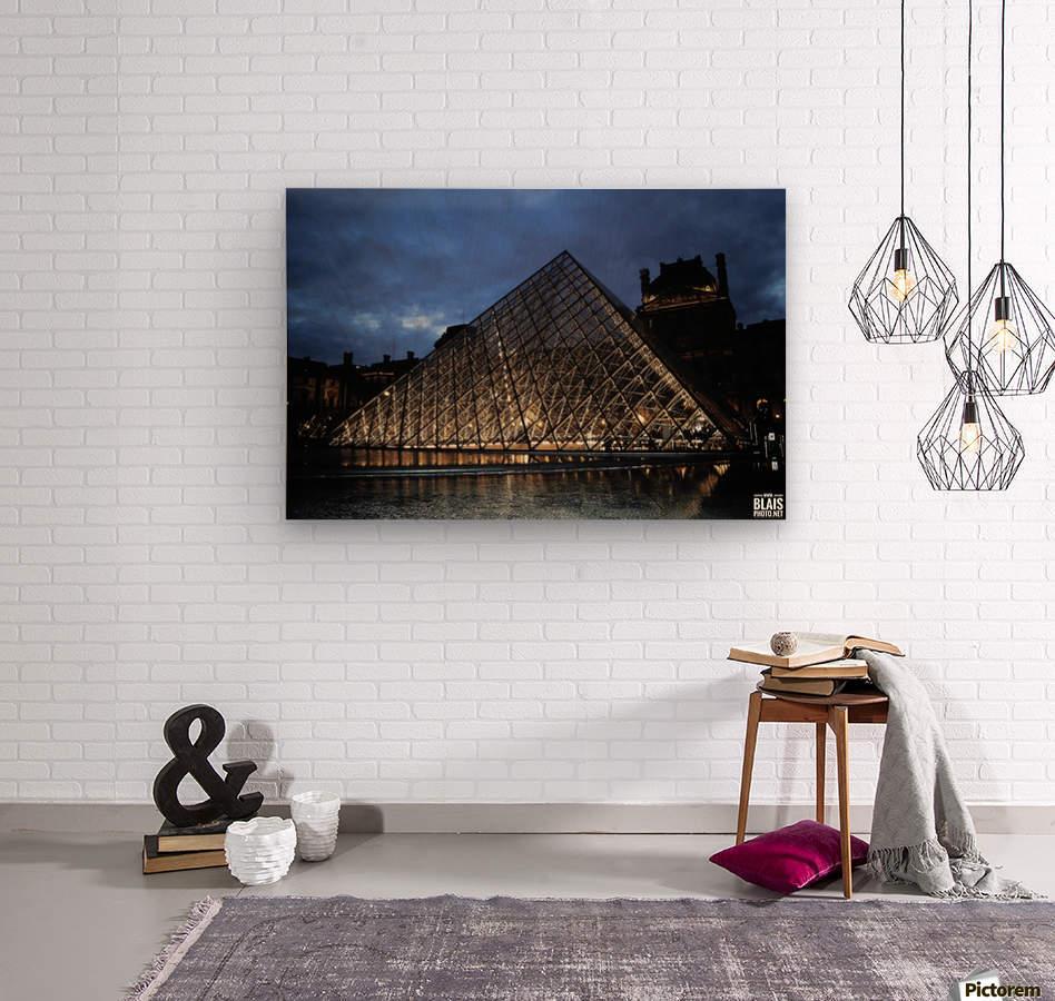 Le Louvre Pyramid  Wood print