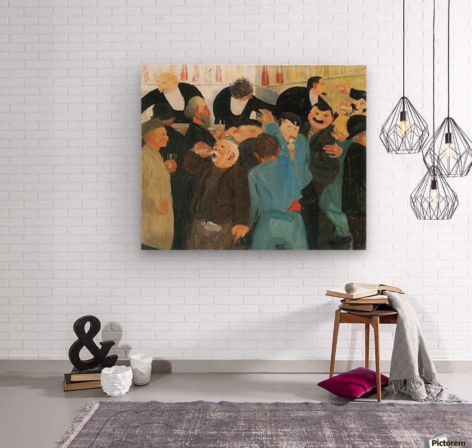 The bistro by Felix Vallotton  Wood print