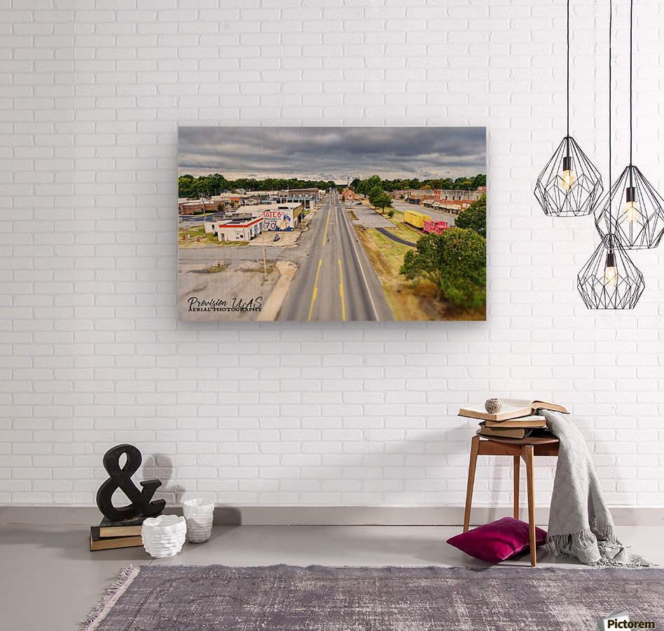 Lonoke, AR | Headed W on 70  Wood print