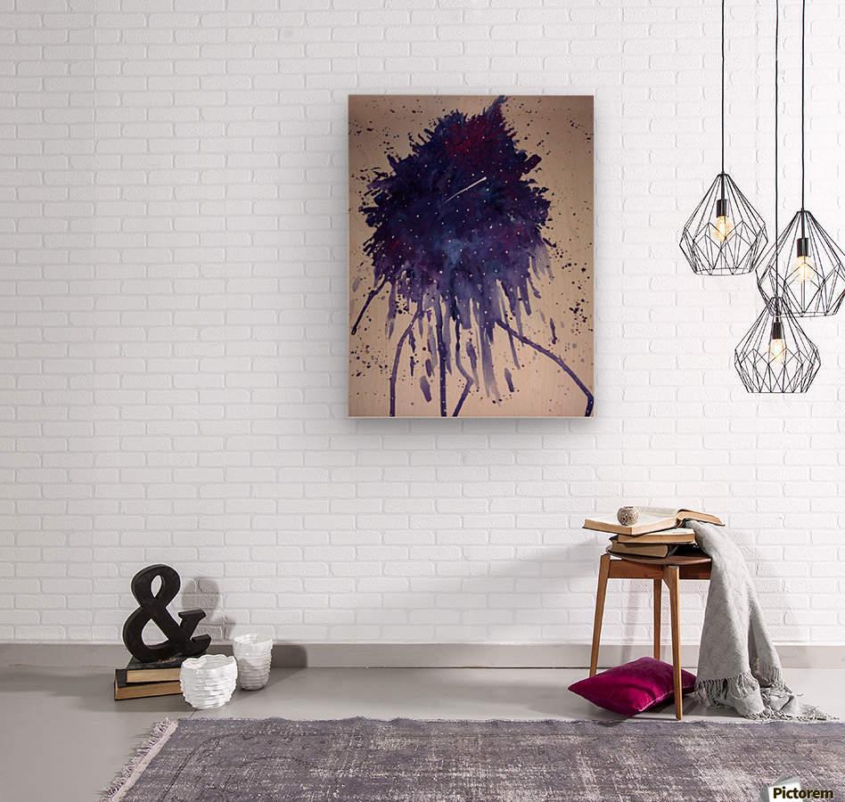 Space Splat  Wood print