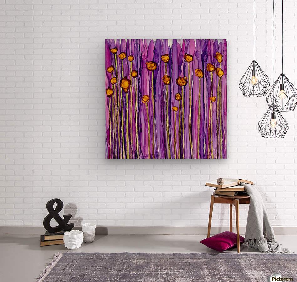 Wildflowers 3  Wood print
