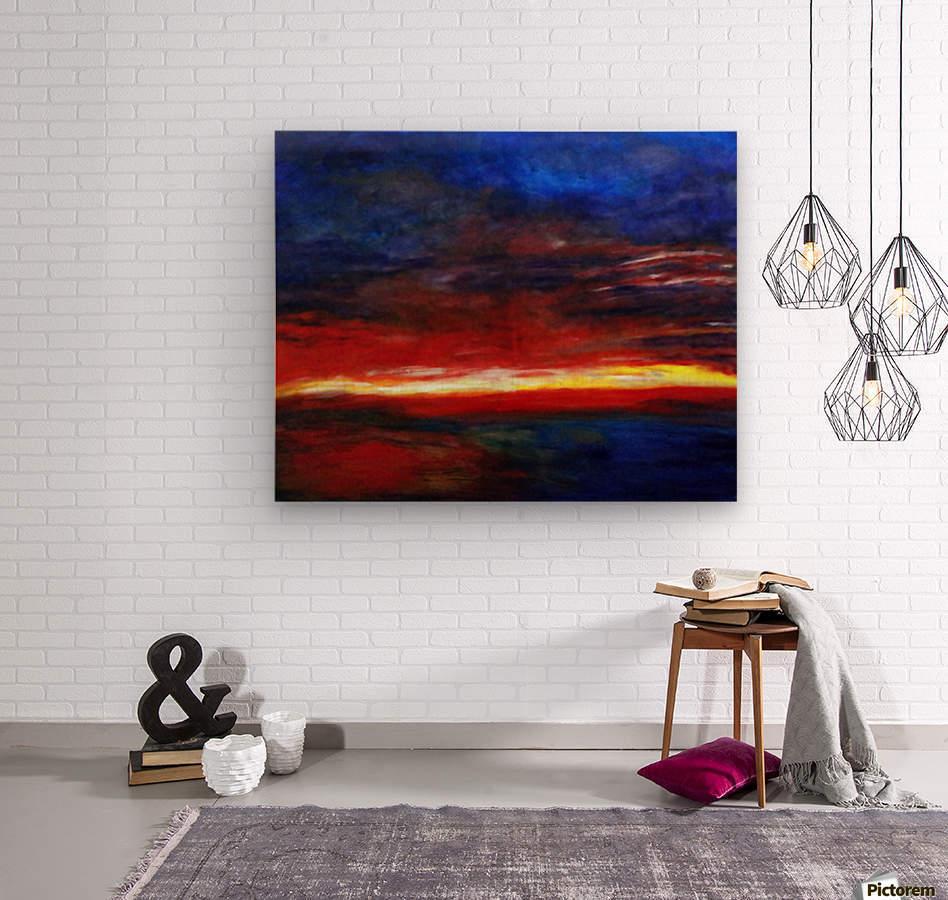 Aries Fire  Wood print