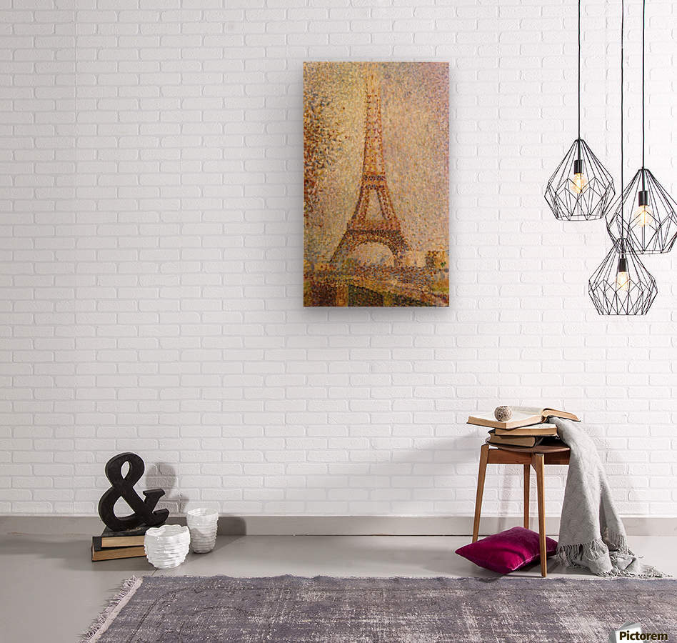 The Eiffel Tower by Seurat  Wood print