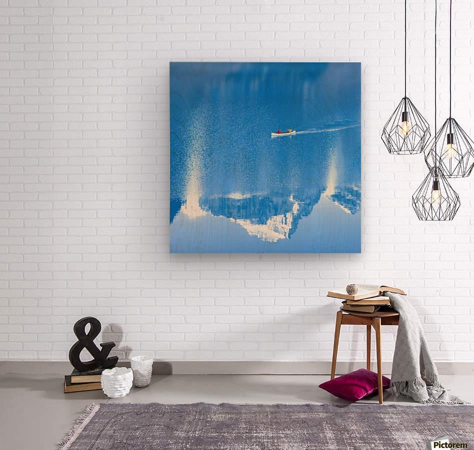 Icy blue   Wood print