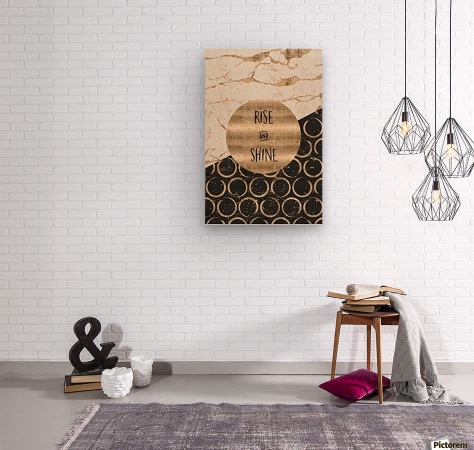 GRAPHIC ART Rise and shine  Wood print
