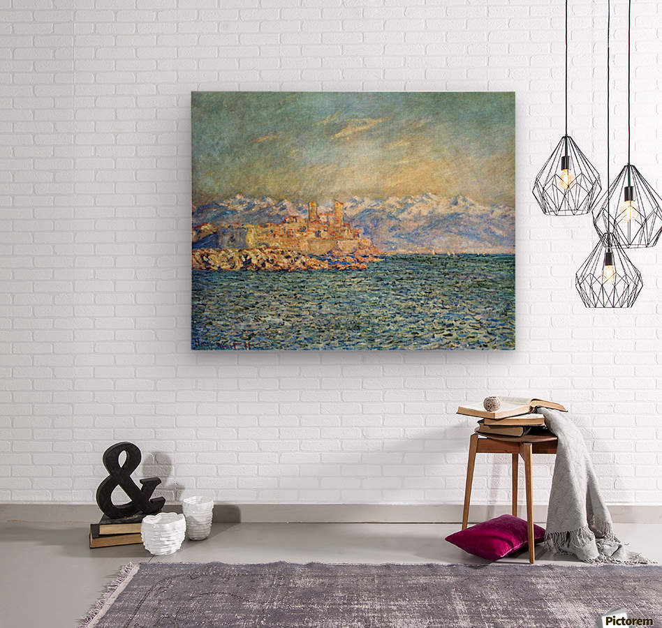 The old Fort in Antibes by Monet  Wood print