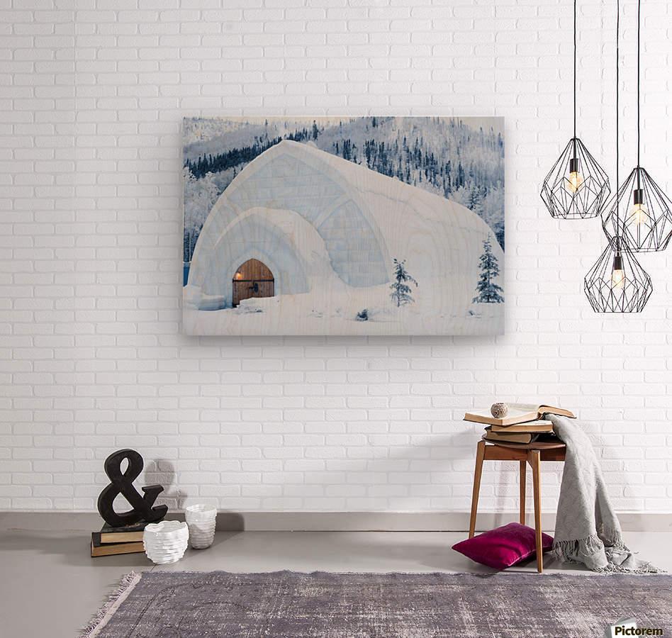 THE WINTER BARN  Wood print