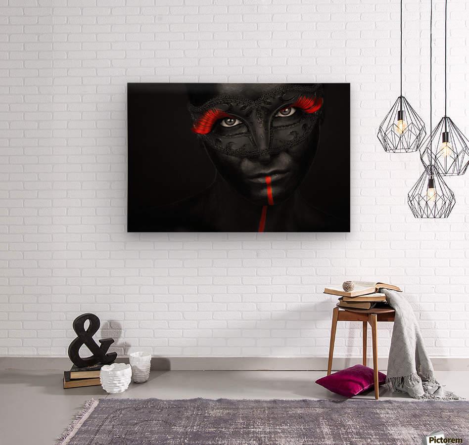 Dark passion  Wood print