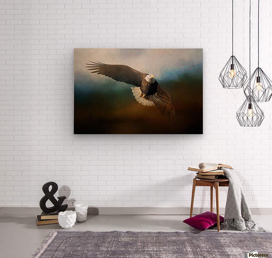 Raptor  Wood print