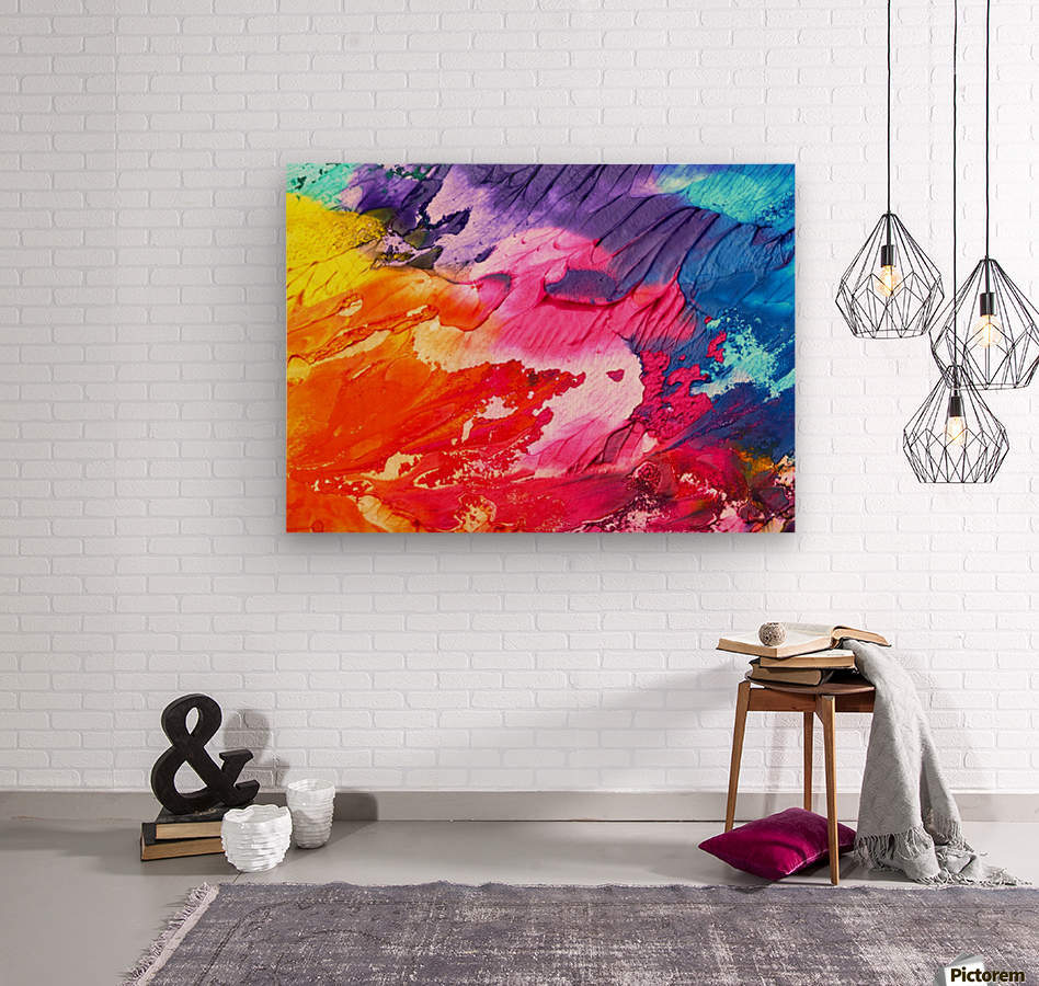 abstr  Wood print