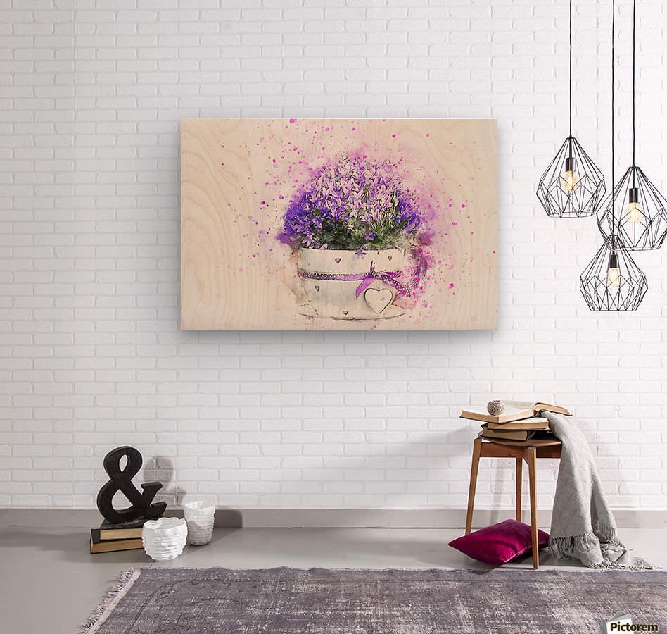 flower  Wood print