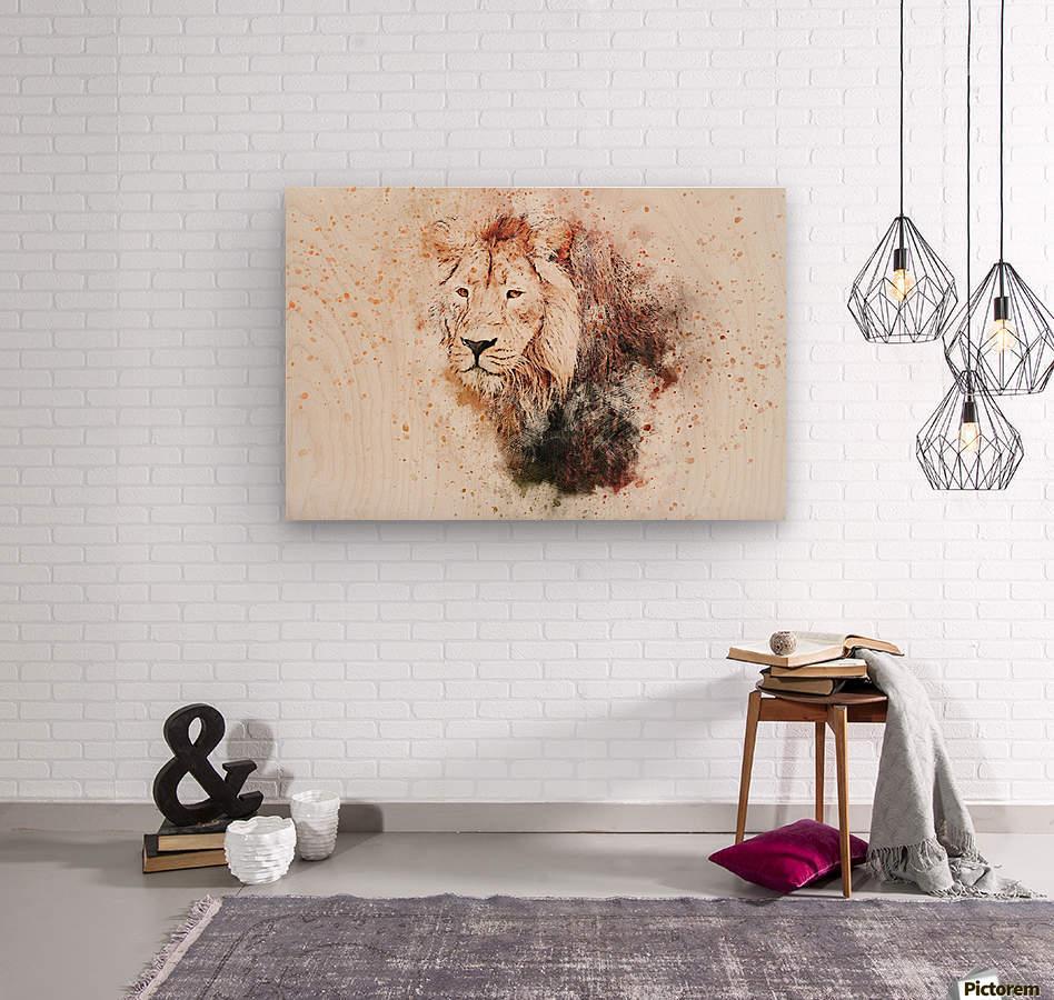 lionss  Wood print