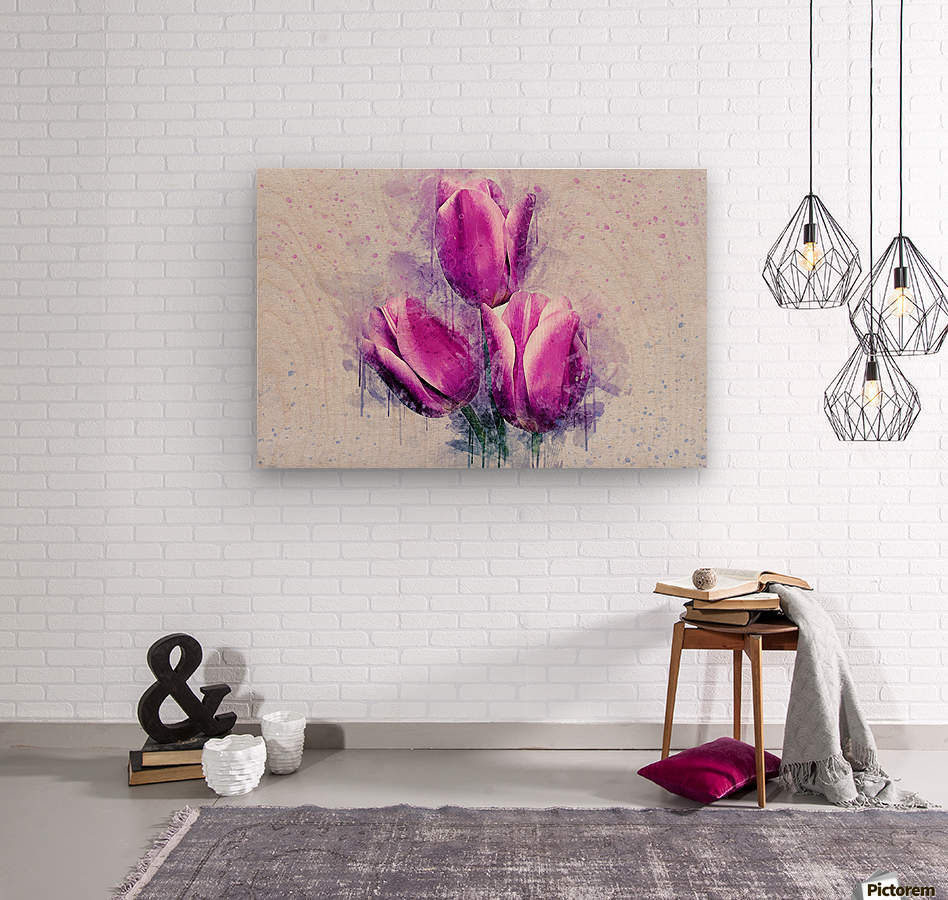 flowerz  Wood print