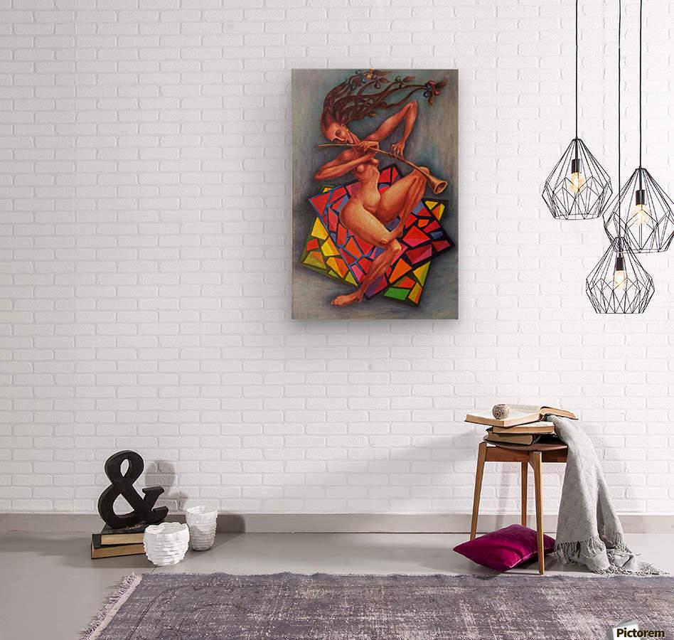 Emotions  Wood print