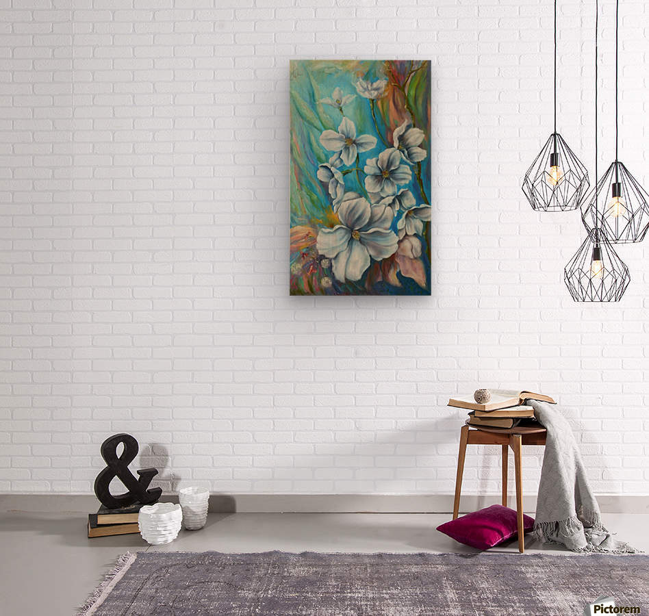 White color  Wood print