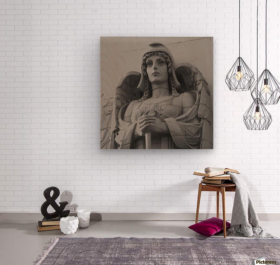 Guardian Angel on Watch  Wood print