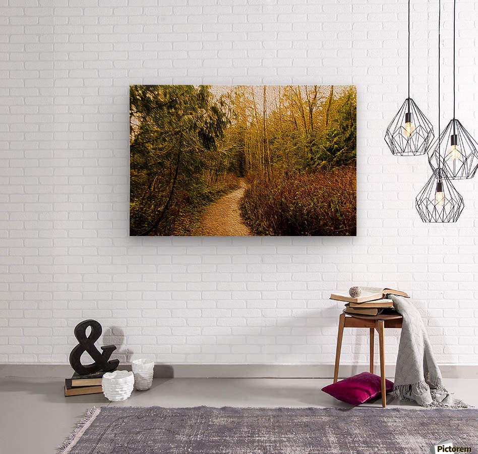 Walk  Wood print