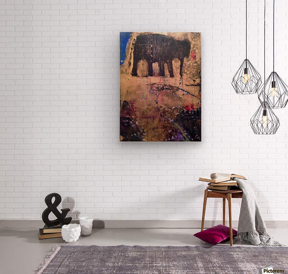 Elephant  Impression sur bois