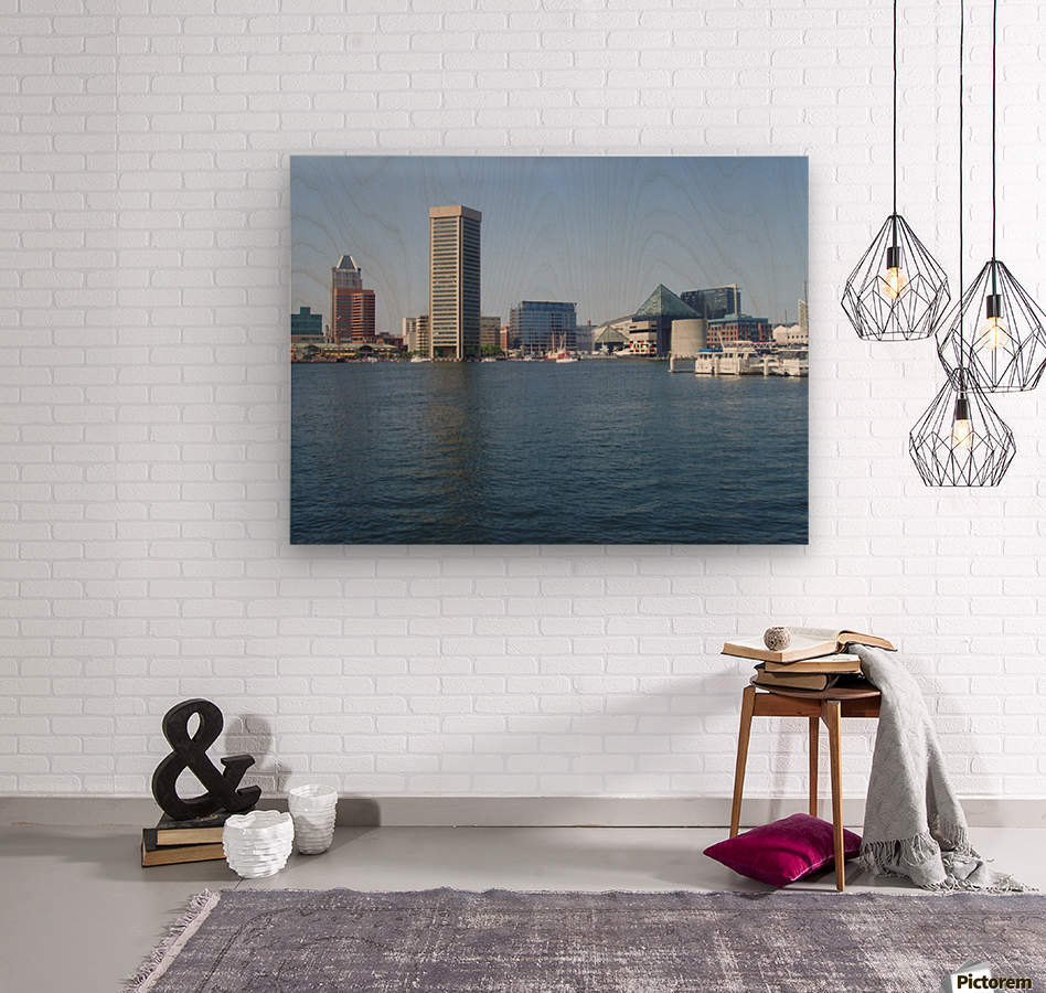 Baltimore Harbour  Wood print