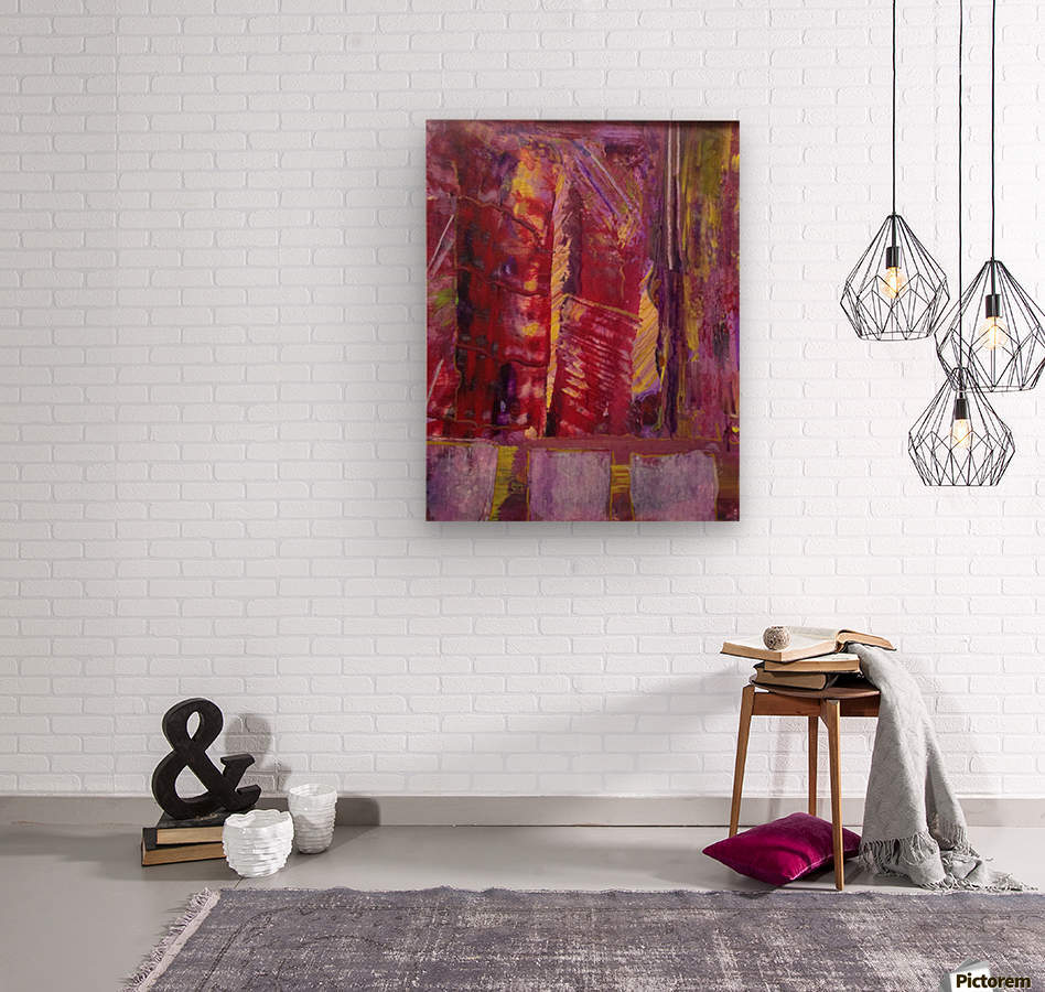 Change is Inevitable Abstract Painting  Wood print