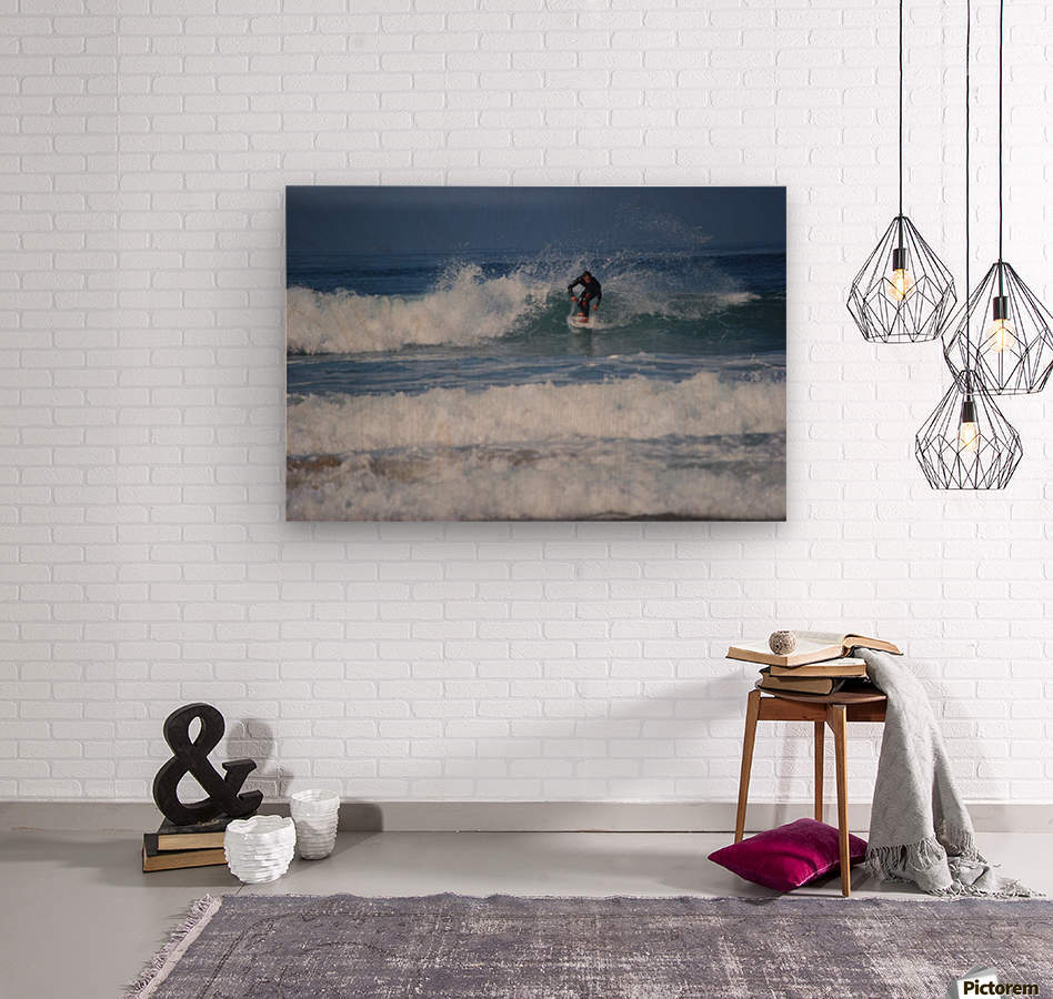 Dana Point surfer  Wood print