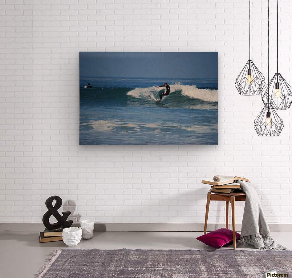Dana Point surfers   Wood print