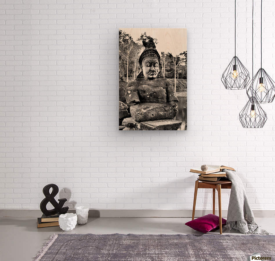 Cambodia  Wood print