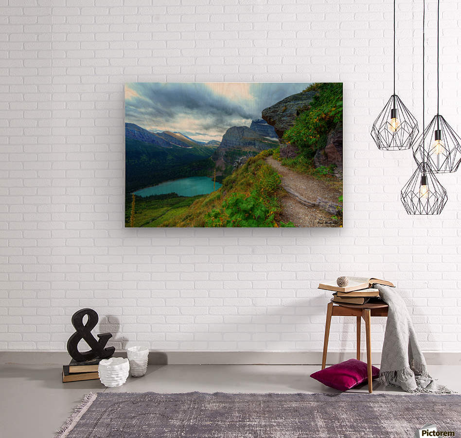 51 -2 Trail to Grinnell Glacier  Wood print