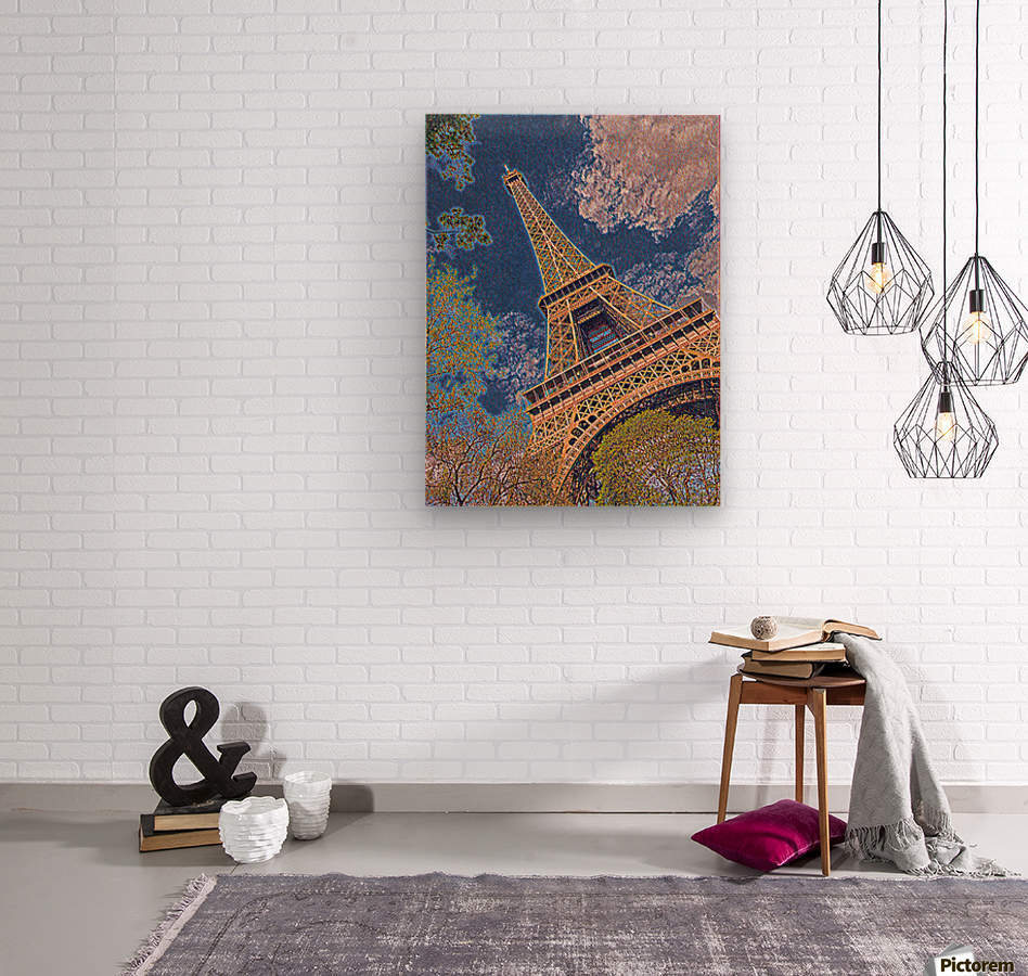 Eiffel Tower- Abstract  Wood print