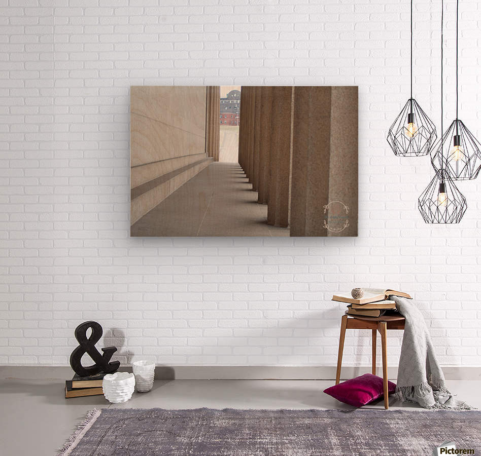 Inside the walls  Wood print